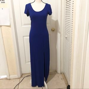 Forever 21 Royal Blue Dress with a Right Leg Slit